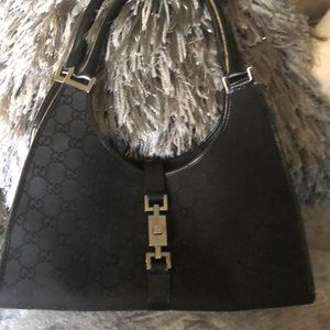 Gucci black hobo purse!